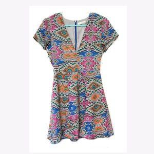Lovers + Friends Cassidy Geometric Print Dress S